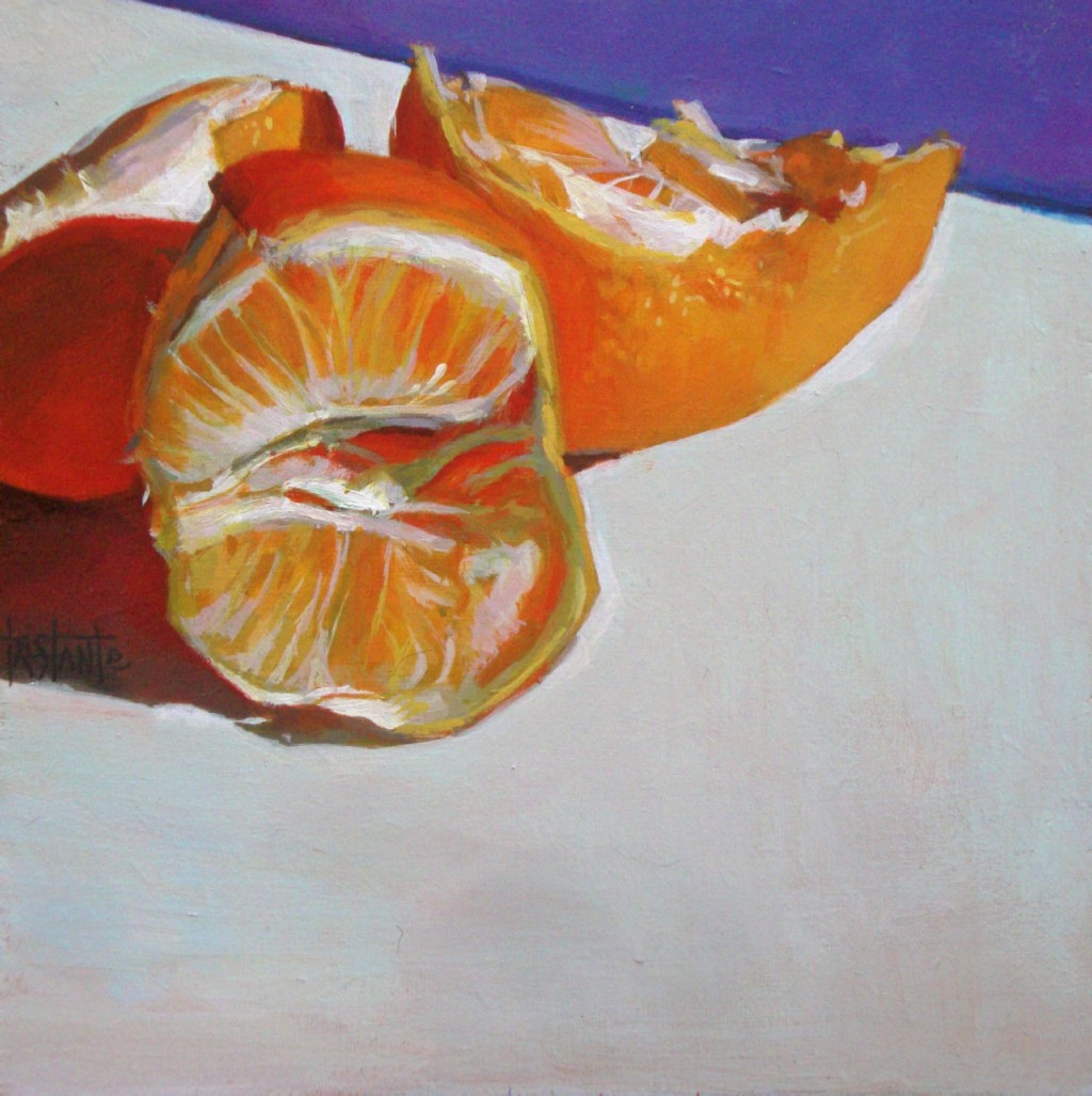 """The orange cavern"" original fine art by Víctor Tristante"