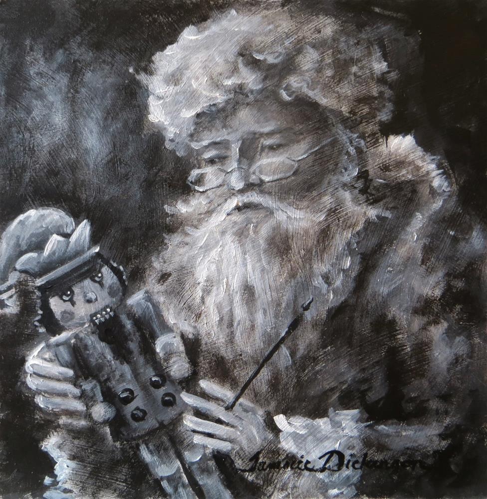 """Santa & the Jester"" original fine art by Tammie Dickerson"