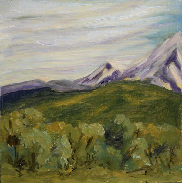 """Mountain Snow"" original fine art by Jane Frederick"