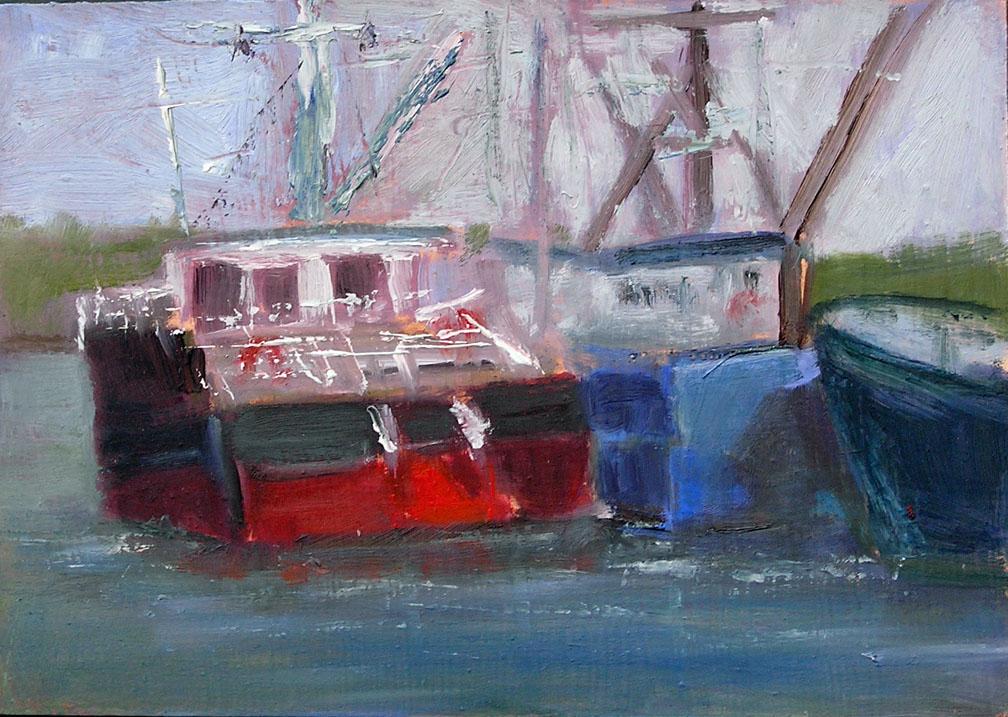 """Old Boat"" original fine art by Blanche Niznik"