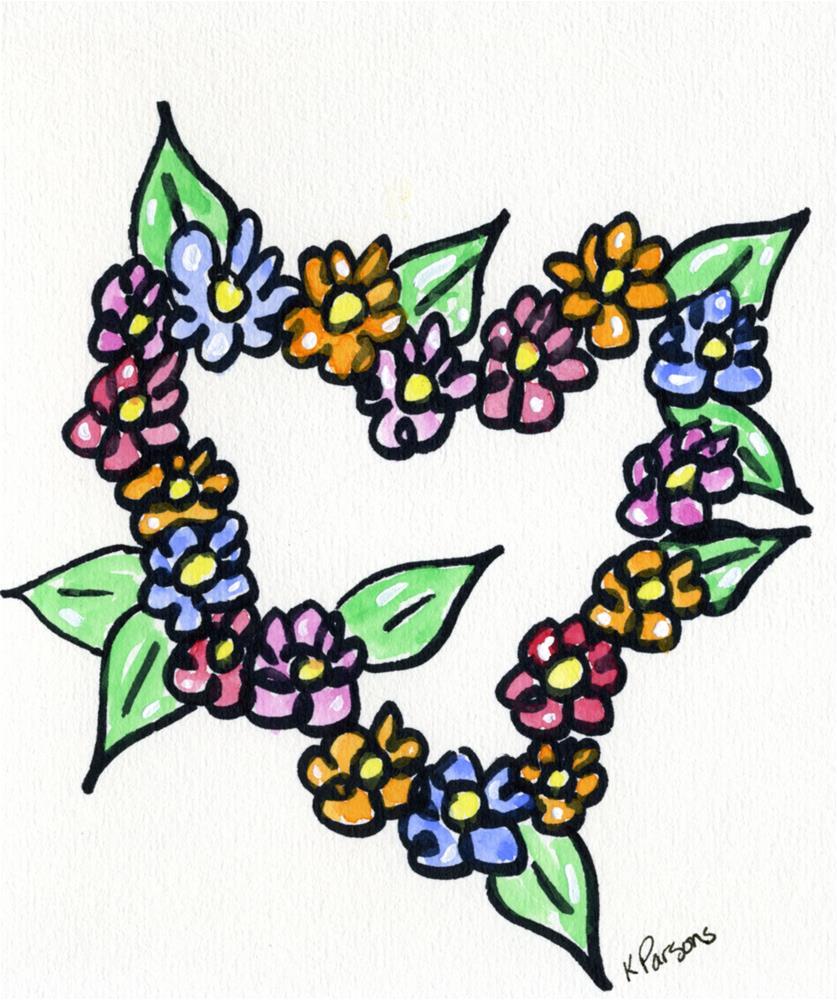 """Love Flowers"" original fine art by Kali Parsons"