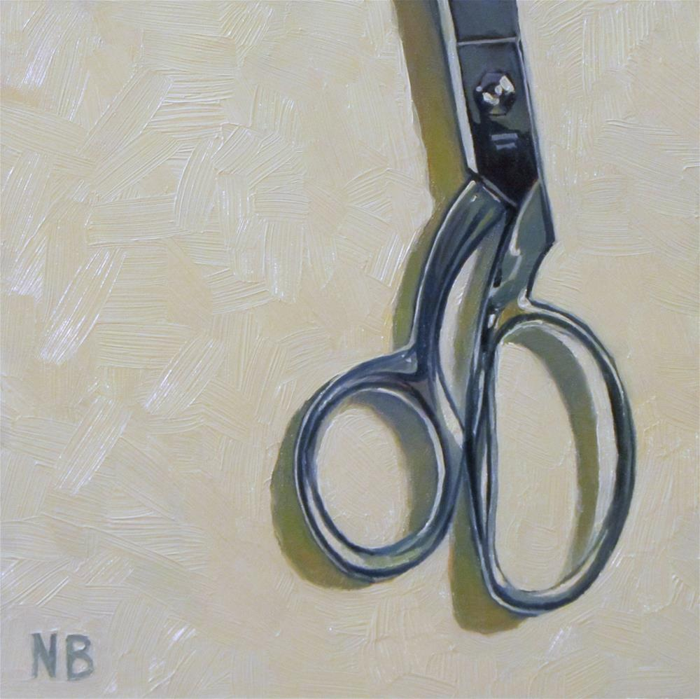 """Scissors"" original fine art by Nora Bergman"