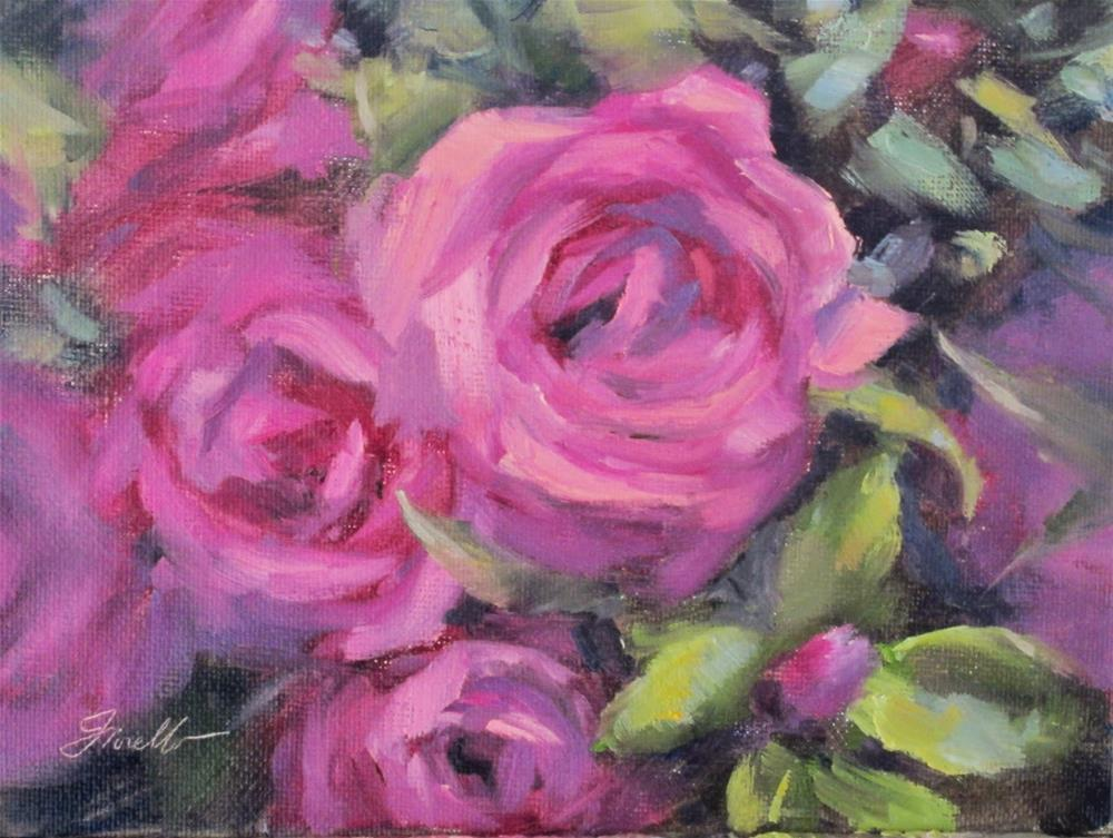 """Rose Swirl"" original fine art by Pat Fiorello"