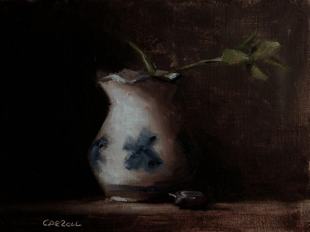 """Small Vase with Leaves"" original fine art by Neil Carroll"