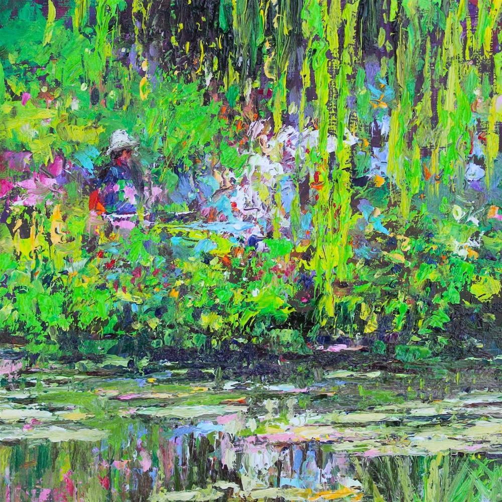 """""""Monet's Water Garden"""" original fine art by Ken Devine"""