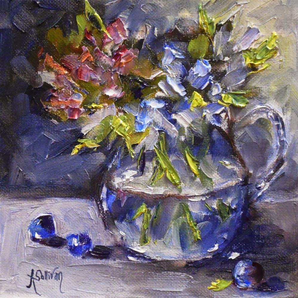 """A Matter of Blue by Alabama Artist Angela Sullivan"" original fine art by Angela Sullivan"