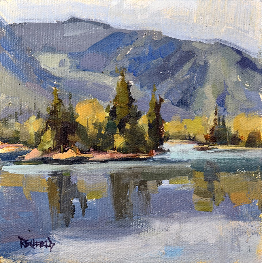 """""""Mountains of The Columbia Gorge"""" original fine art by Cathleen Rehfeld"""