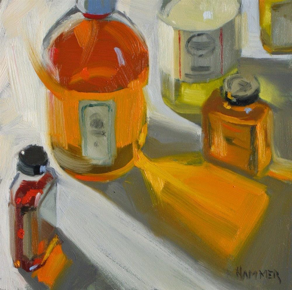 """Painter's Elixirs  6x6  oil"" original fine art by Claudia Hammer"