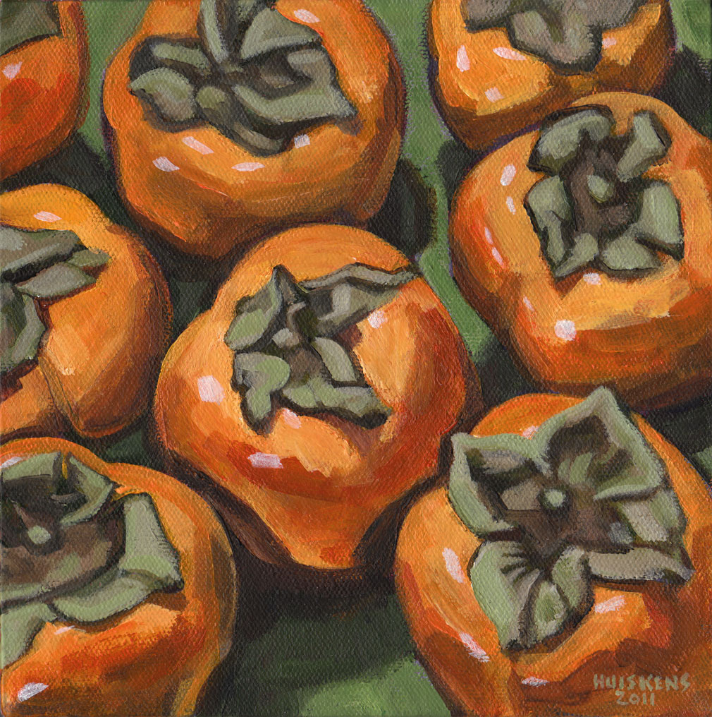 """Persimmons No. 1"" original fine art by Randal Huiskens"