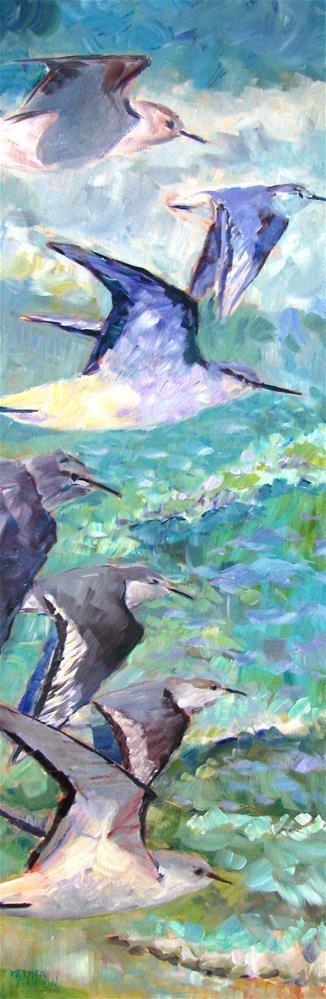 """""""Birds in Flight"""" original fine art by Melissa Gannon"""