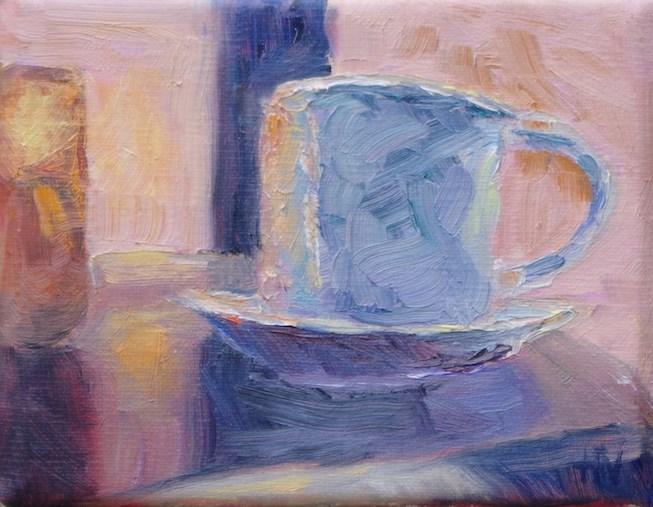 """""""First Cup Different Day2"""" original fine art by Helen Viebrock Hamel"""