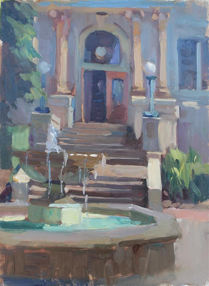 """The Fountain"" original fine art by Kristian Matthews"