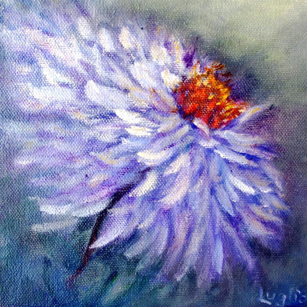 """""""Blue Daisy"""" original fine art by Loretta Luglio"""