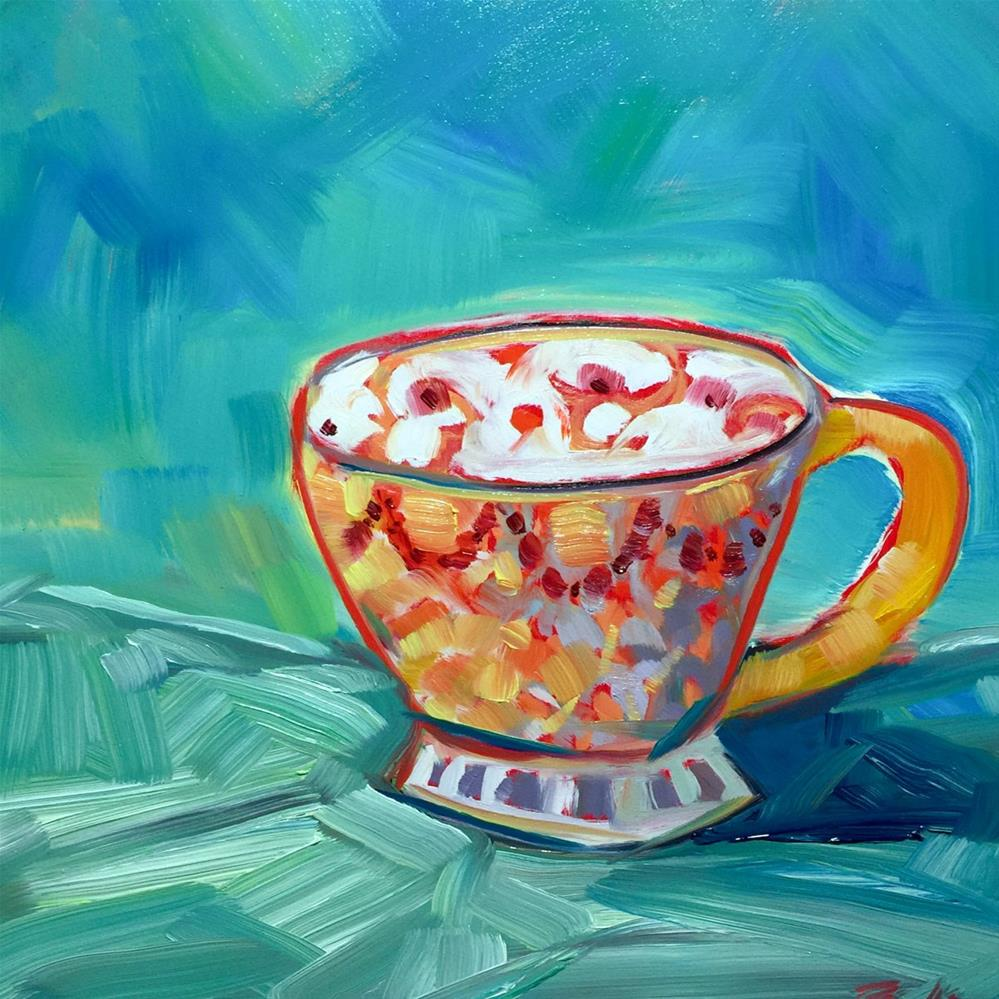 """0438: Teacup Study in Oils"" original fine art by Brian Miller"
