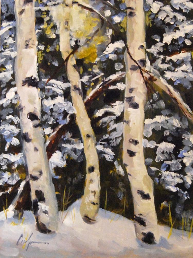 """Winter Light"" original fine art by Cornelis vanSpronsen"