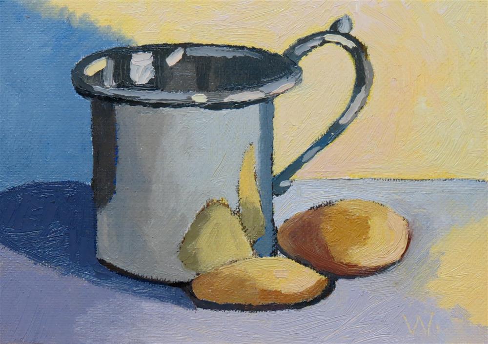 """Milk and Cookies"" original fine art by Joan Wiberg"