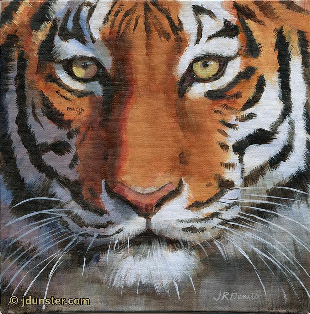 """""""Close-up Tiger"""" original fine art by J. Dunster"""
