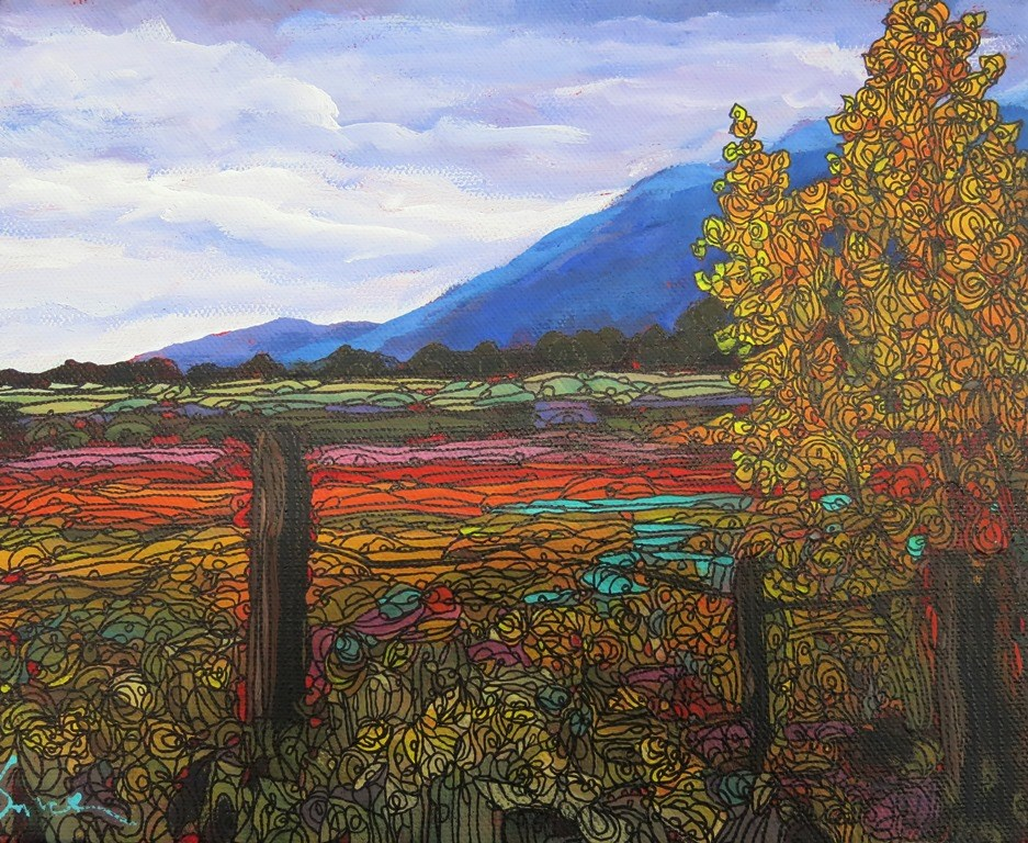 """AUTUMN FIELDS"" original fine art by Dee Sanchez"