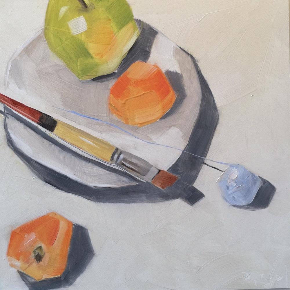 """234 Apricot Affair"" original fine art by Jenny Doh"
