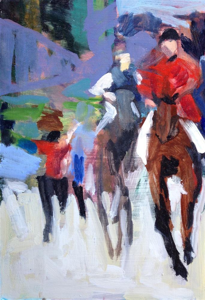 """Off To the Hunt"" original fine art by Pamela Hoffmeister"