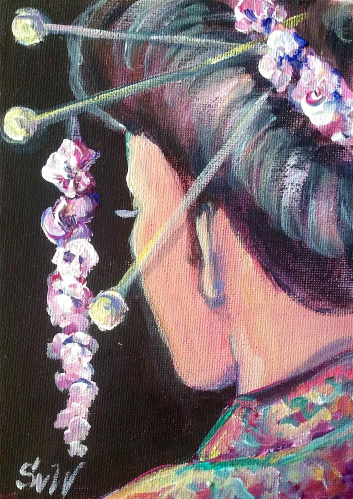"""""""Geisha girl"""" original fine art by Sonia von Walter"""