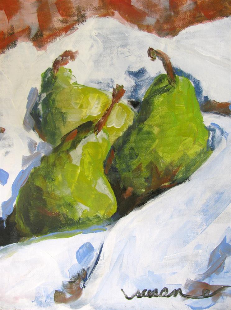 """Pears"" original fine art by Susan Elizabeth Jones"