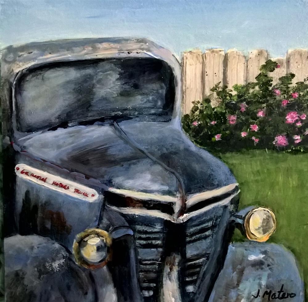 """Old Blue"" original fine art by Joan Matero"