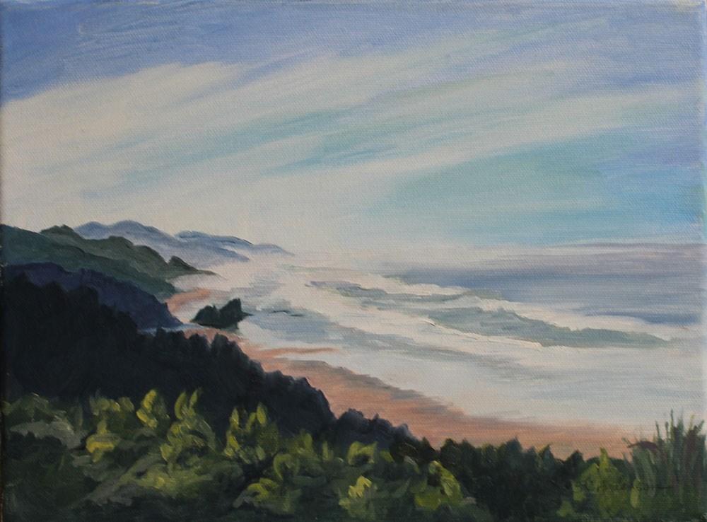 """""""West coast shoreline"""" original fine art by Susan Andersen"""