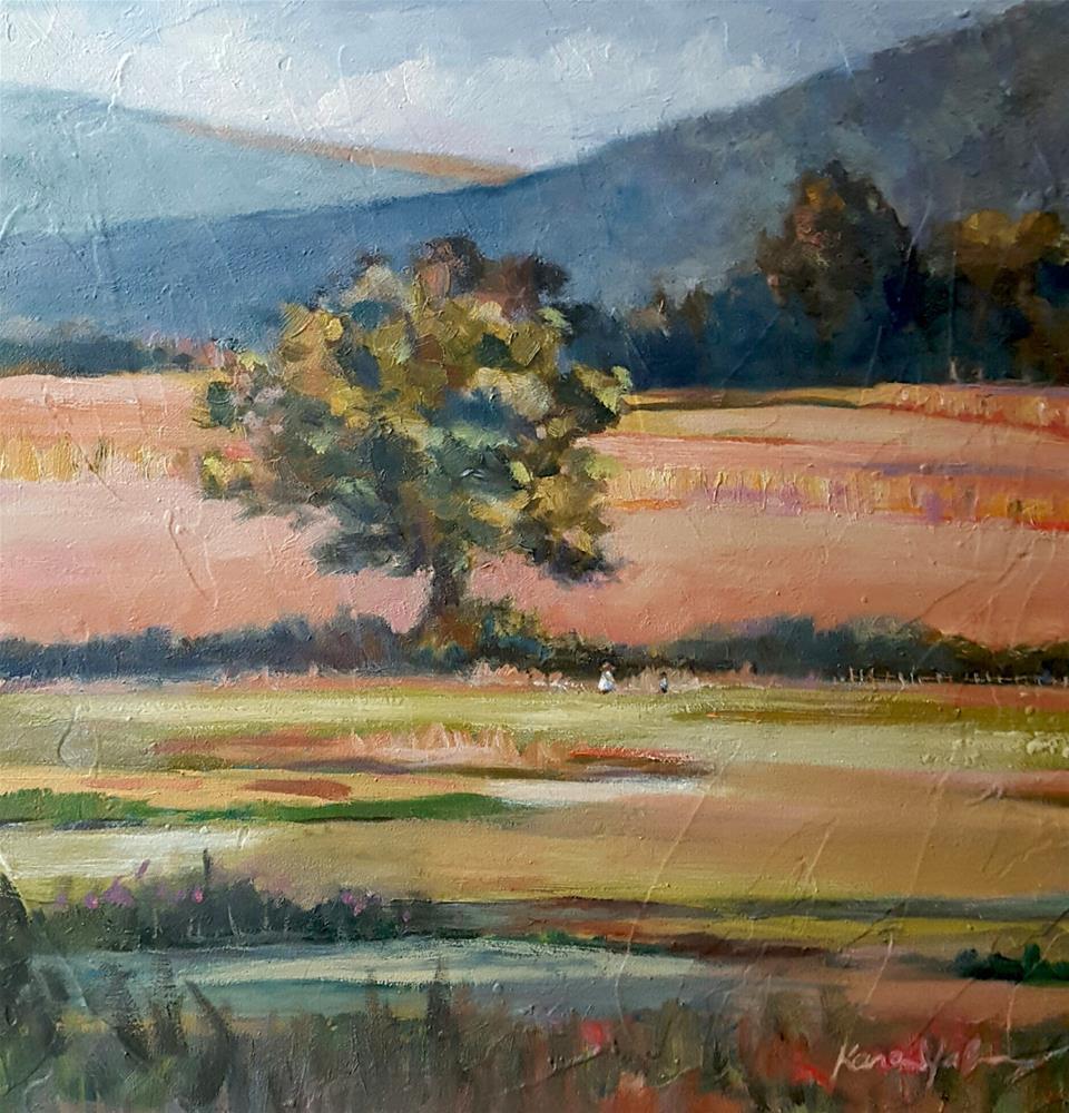 """""""Under the Big Oak"""" original fine art by Karen Weber"""