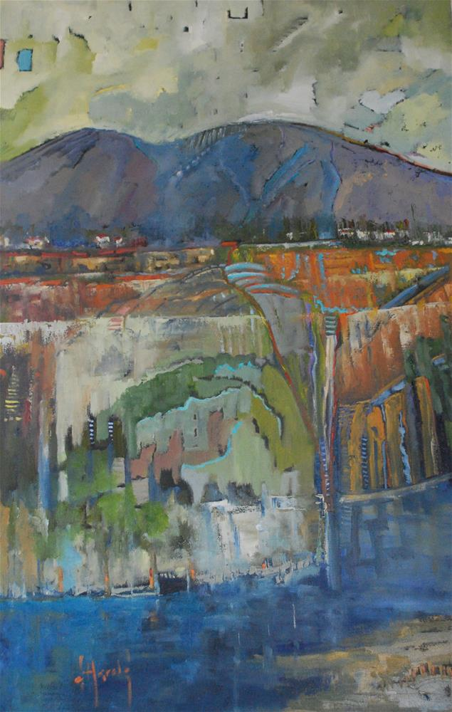 """Back Bay"" original fine art by Deborah Harold"