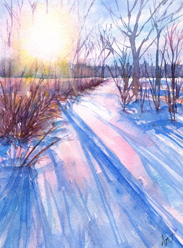 """Winter Sun"" original fine art by Ann Nemcosky"