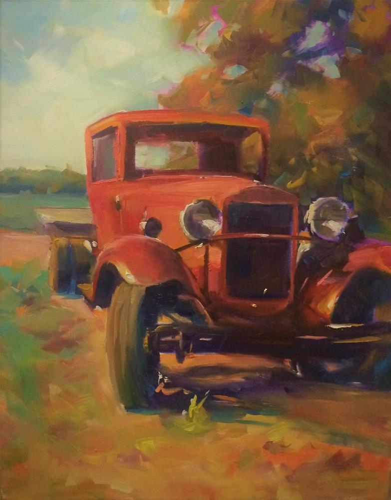 """""""TRUCKING DOWN"""" original fine art by Doug Carter"""
