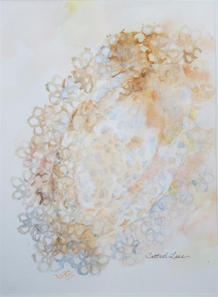 """""""Tatted Lace"""" original fine art by Jean Krueger"""
