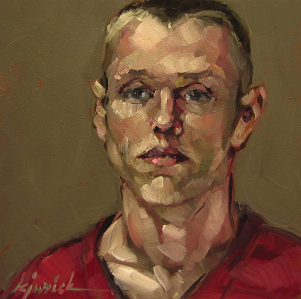 """100 Faces, No. 24"" original fine art by Karin Jurick"