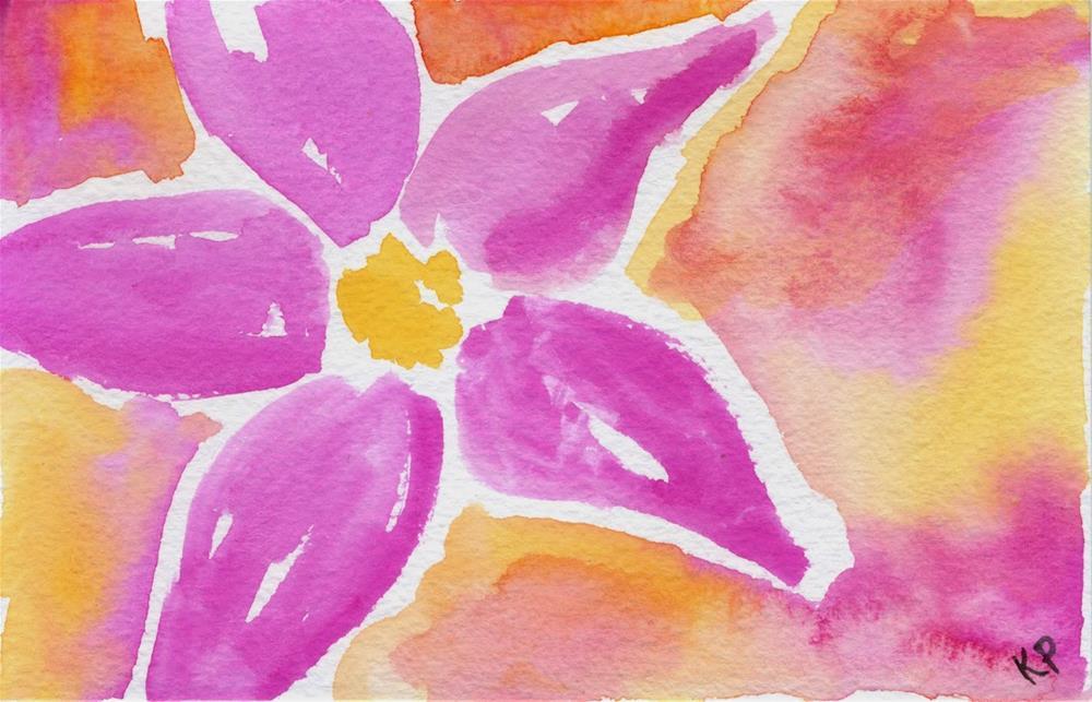 """Pink and Orange"" original fine art by Kali Parsons"