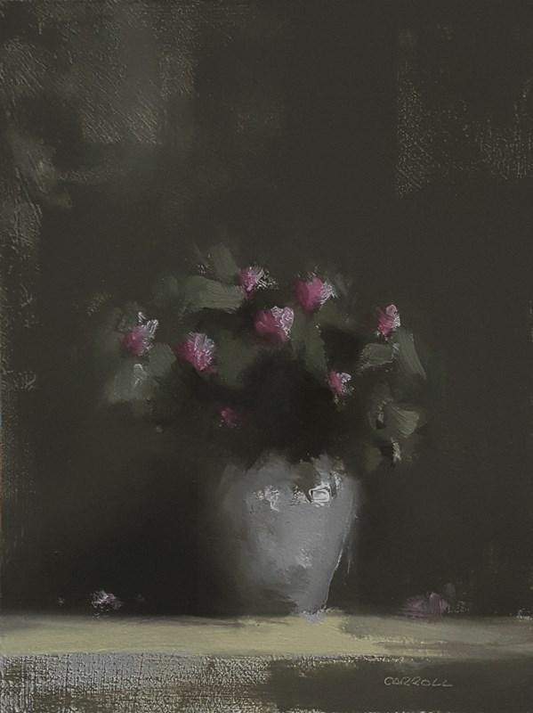 """Azalea Buds"" original fine art by Neil Carroll"