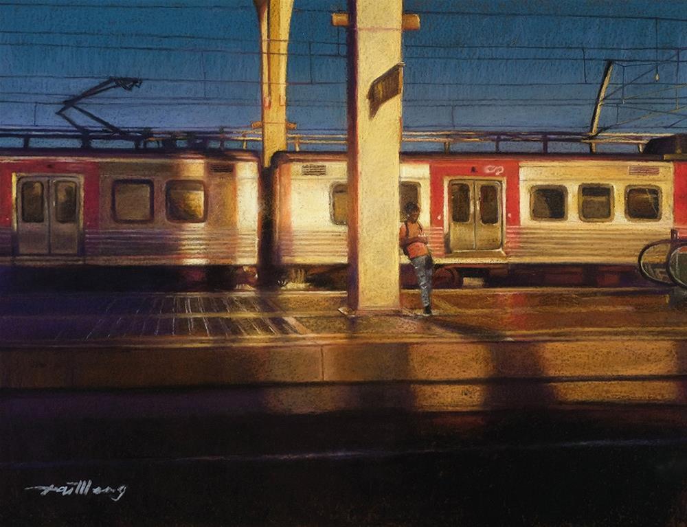 """Morning Light at Oriente Station, Lisbon"" original fine art by TaiMeng Lim"