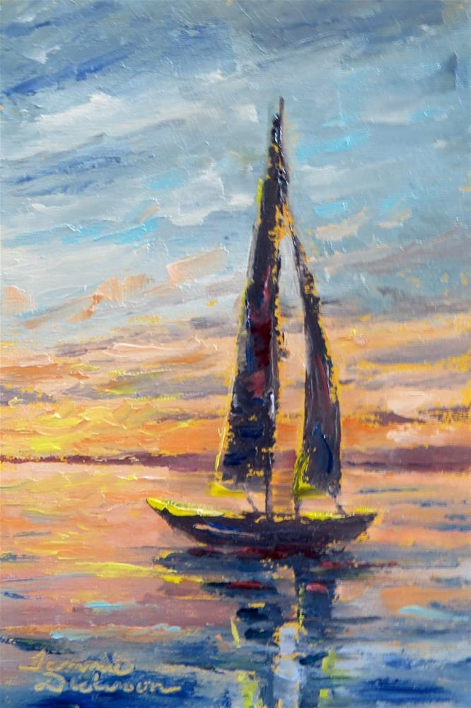 """Palette Knife Sailing"" original fine art by Tammie Dickerson"