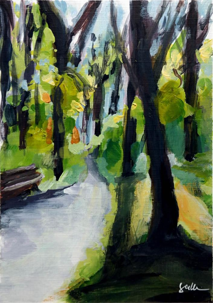 """2076 Path along the Forest"" original fine art by Dietmar Stiller"