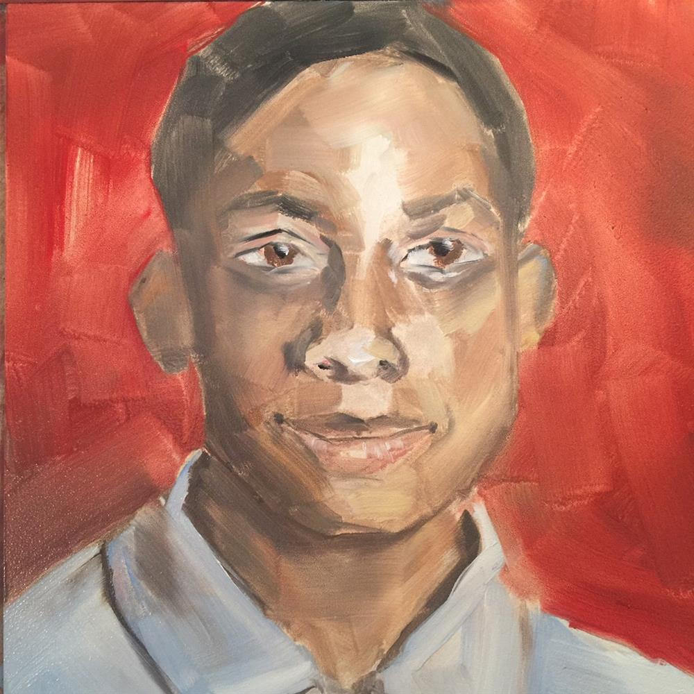 """480 Jordan Edwards"" original fine art by Jenny Doh"