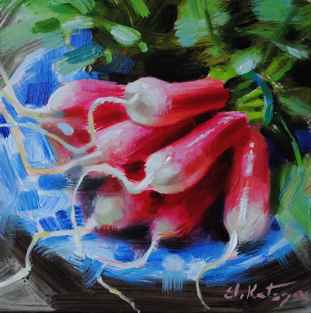 """""""Fresh Radishes"""" original fine art by Elena Katsyura"""