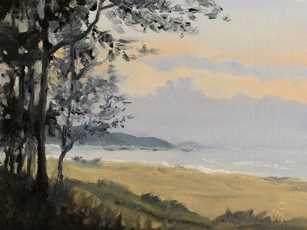 """Evening at Guhagar beach"" original fine art by Mandar Marathe"