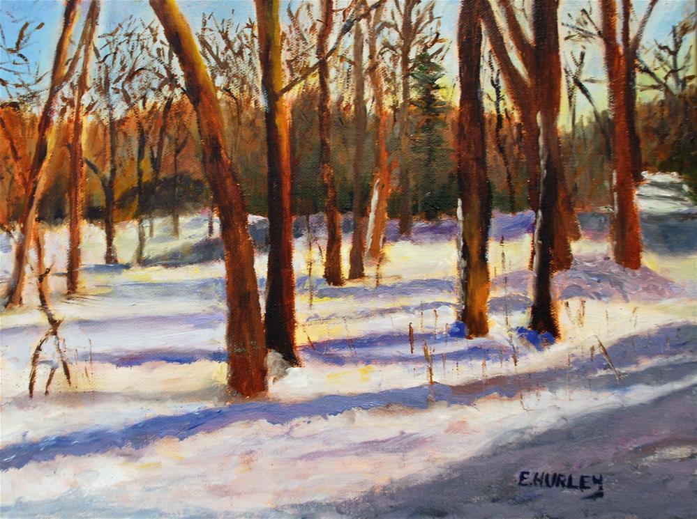 """The Backyard"" original fine art by Ellen Hurley"