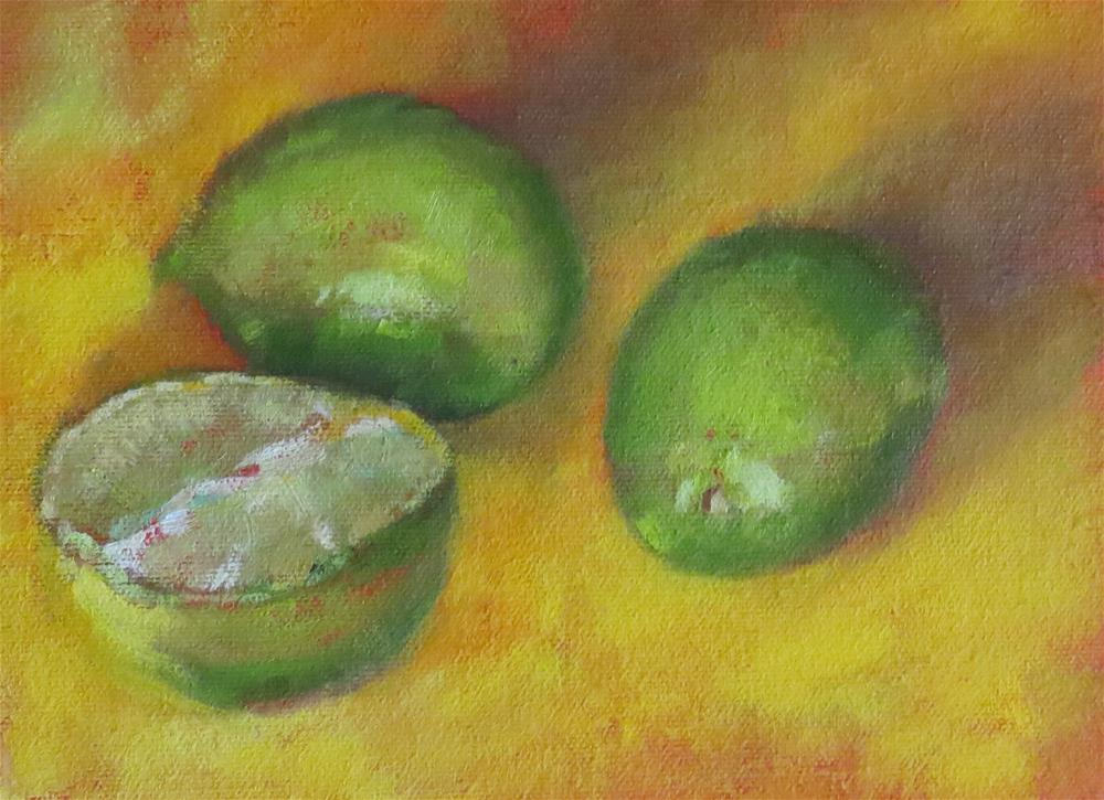 """Lime Green"" original fine art by Pam Holnback"