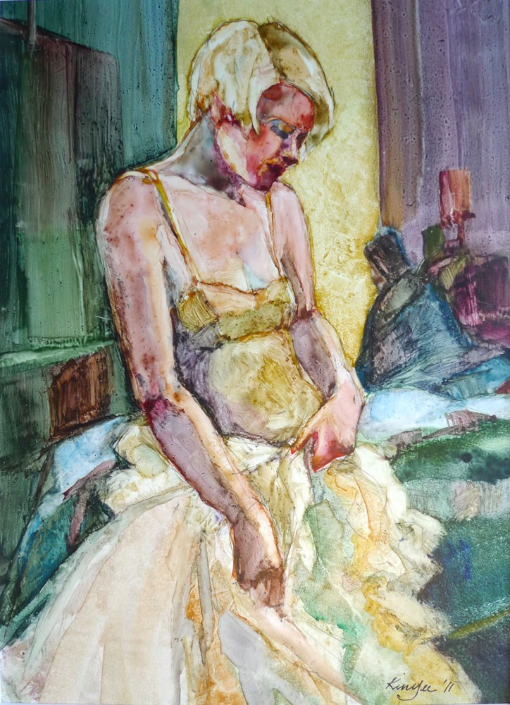 """'Chiarina after the ball'"" original fine art by Myriam Kin-Yee"