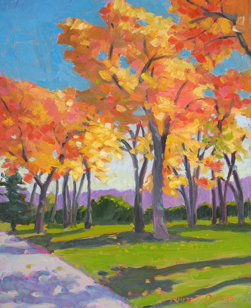 """Fall Color"" original fine art by Rhett Regina Owings"
