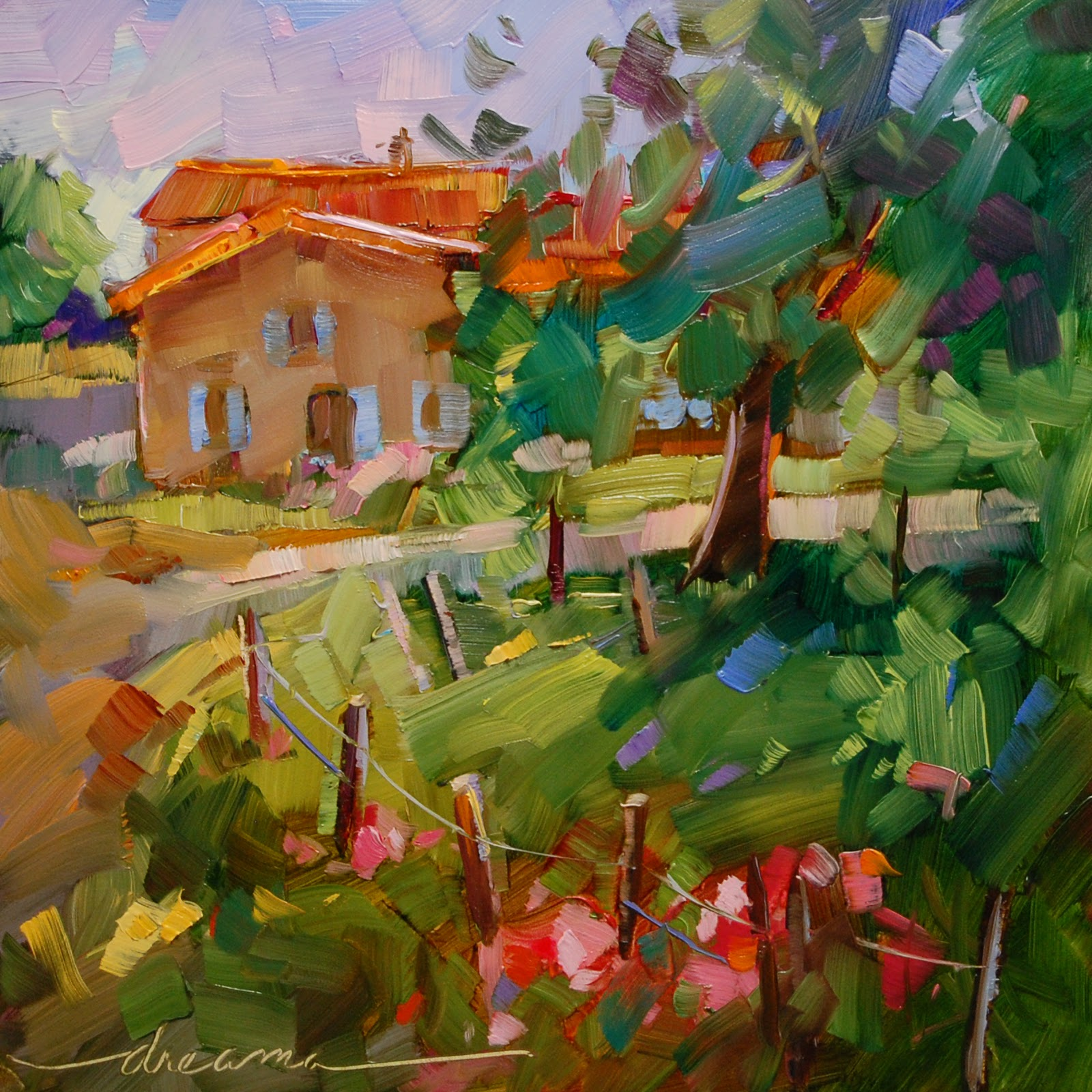 """""""Perfectly Imperfect in France"""" original fine art by Dreama Tolle Perry"""