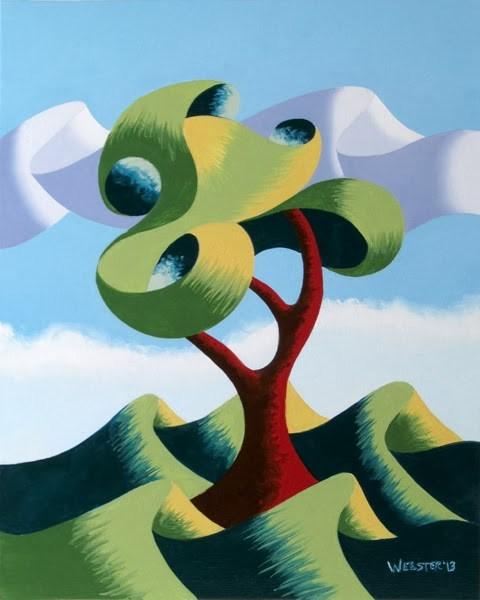 """Mark Webster - Untitled Abstract Landscape Oil Painting 12-4-13"" original fine art by Mark Webster"