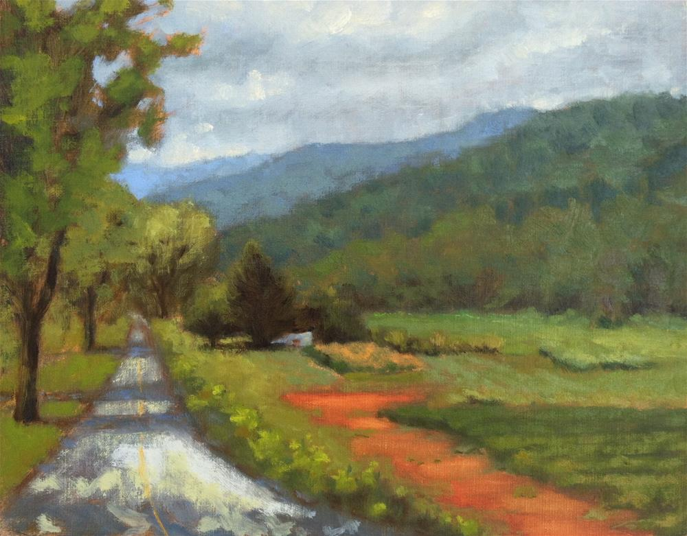 """""""The Road to Saluda"""" original fine art by Colleen Parker"""