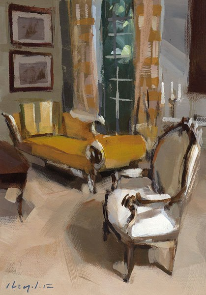 """Yellow - Quick Study"" original fine art by David Lloyd"